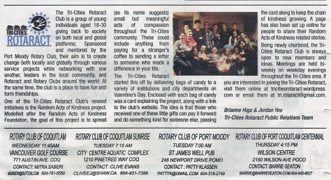 Tri-City News Article published March 22
