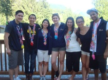 From left: Eric, Jordan, Danielle, Sarah A, Camilla, Eli and Raj at RYLA.