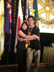 "Michelle and Jordan, Facilitators at District 5050's first ever ""RYLA for Rotarians"" at the iRotary conference downtown."