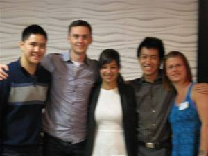 Eric, John, Camilla and Jordan with Port Coquitlam Centennial Rotarian Karly Simms.