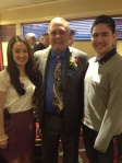 Kimberley and Eric with incoming Coquitlam Sunrise President Jim Fitzpatrick.