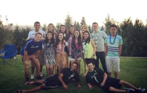 Members of the Tri-Cities Rotaract at the luau-themed fundraiser.
